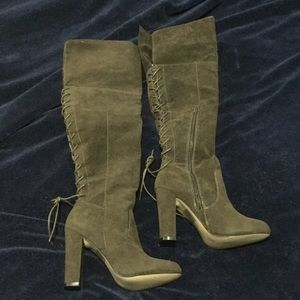 Army Green Just Fab Over the Knee Boots